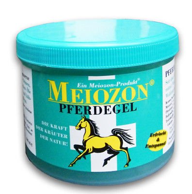 Meiozon® Horse Gel for tired limbs, pain, bruises, stiffness, sprains, sports injuries.